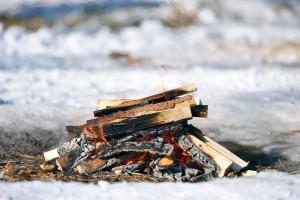 Burning fire at OSHO Sammasati