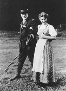 Anna and Sigmund Freud at OSHO Sammasati